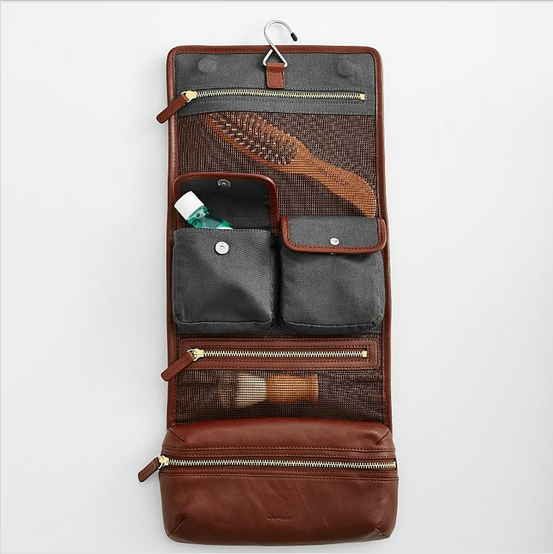 Red Envelope leather travel case